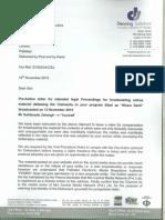 Defamation Complaint by Mr Sahibzada Jahangir to Channel 24