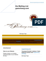 Mypanchang.com-Membership to the Mailing List Informationmypanchangcom