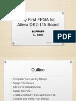 MyfirstFPGA Altera DE2115