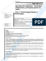 NBR 213-1 - Seguranca de Maquinas Conceitos Fundamentais