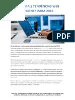 PRINCIPAIS TENDÊNCIAS WEB DESIGNER PARA 2016