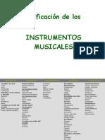 Clasificaciónde Los Instrumentos Musicales