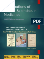 Contributions of Muslim Scientists in Medicines