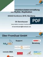 Weltweite Produktionsdatenverwaltung mit MySQL-Replikation