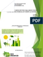 Opciones Ecoeficientes Para Reducir El Consumo de Energia