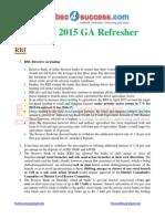 August GA Refresher