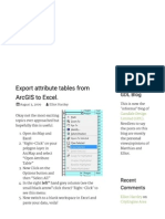 Export attribute tables from ArcGIS to Excel.pdf