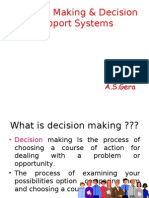 Decision Making & DSS