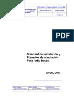 Standard de Instalacion para radio bases