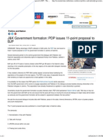 J&K Government Formation_ PDP Issues 11-Point Proposal to BJP - The Economic Times