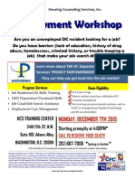Employment Workshop Nov Dec