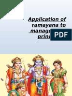 Application of Ramayana to management principles