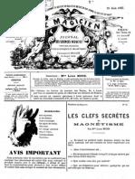 Le Magicien, journal des sciences occultes, physiologiques, philosophiques et magnétiques N°97