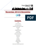 November 2015 E-Newsletter