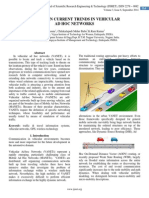 A STUDY ON CURRENT TRENDS IN VEHICULAR  AD HOC NETWORKS