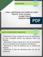 Flujo máximo, flujo de costo mínimo y CPM/PERT