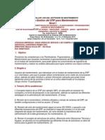 USO DEL SOFTWARE DE MANTENIMIENTO Óptima Gestion del ERP para Mantenedores Nivel I
