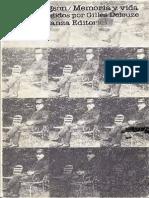 Bergson, Henri - Memoria y Vida. Textos Escogidos Por Gilles Deleuze.pdf