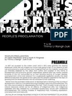 Manifesto of Thma U Rangli Juki (TUR)