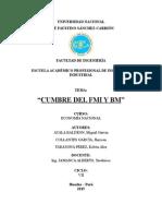 Cumbre FMI y BM