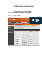 DLINK Router Port Forwarding Setup for Vivotek IP Camera