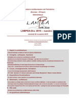 LAMPEA-Doc 2015 – numéro 34 / vendredi 20 novembre 2015