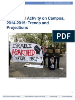 Campus Anti Israel Activity Report 2015-11-04