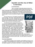 Research Log Weimar and Hitler Classwork