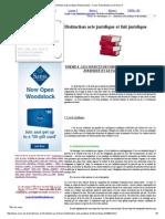 Distinction Acte Juridique Et Fait Juridique - Cours d'Introduction Au Droit Privé