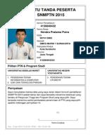 Kartu Pendaftaran SNMPTN 2015 4150848432