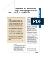 A Comparison of Limit Equilibrium and Numerical Modelling Approaches to Risk Analysis for Open Pit Mining