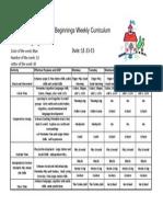 Weekly Curriculum Nov 23-27 '15