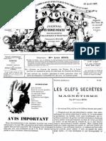 Le Magicien, journal des sciences occultes, physiologiques, philosophiques et magnétiques N°92