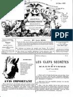 Le Magicien, journal des sciences occultes, physiologiques, philosophiques et magnétiques N°91