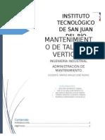 Proyecto Final Administración de Mantenimiento Taladro de Piso