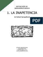 Rafael Spregelburd- La Inapetencia