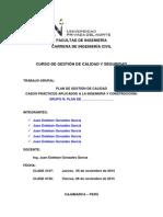Pautas Trabajo Grupal 3 - Plan de Gestion de Calidad