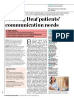 Meeting Deaf Patients Communication Needs