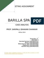 Sec E - Group 11 Barilla Spa (1)