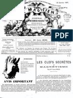 Le Magicien, journal des sciences occultes, physiologiques, philosophiques et magnétiques N°87