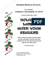 Holiday Lunch Flyer