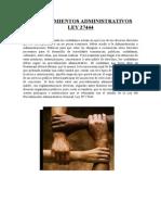 Procedimientos Administrativos Ley 27444
