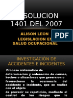 Resolucion 1401 Del 2007 Allisson
