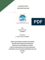 Kolesistolitiasis - Laporan Kasus - Koas Bedah UIN - Rasyad Wicaksono - Revisi