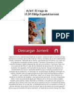 #ç!ñ© El viaje de Arlo.2015.DVDRip.Español.torrent