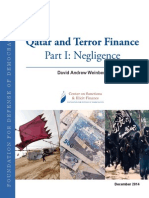 Qatar and Terror Finance - Part I- Negligence - Foundation for Defence of Democracy ~ Center on Sanctions & Illicit Finance - December 2014