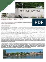 management analyst ii recruitment brochure 2015 operations