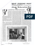 """Grover Cleveland - """"Does a College Education Pay?"""""""