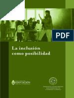 Kaplan C y García S La Inclusión Como Posibilidad