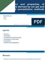 Characteristics and Properties of Hydoxyapatite